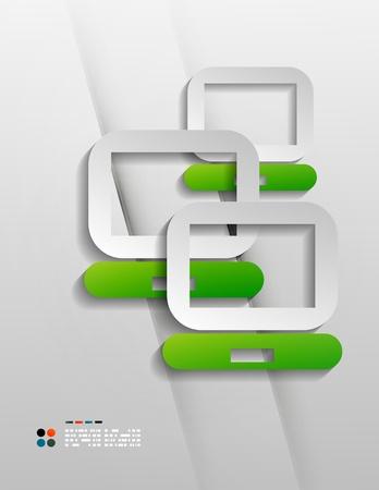 Vector file program modern 3d paper design Stock Vector - 21133640
