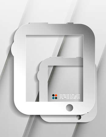 Vector tablet modern paper design Vector