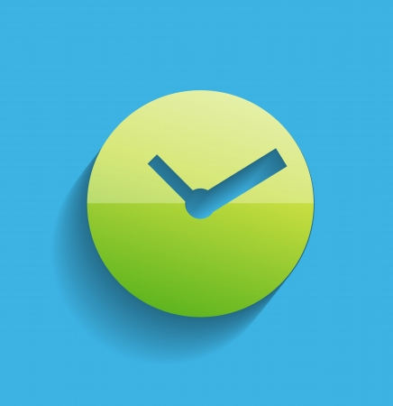 Time clock icon modern flat design Vector