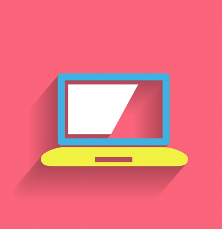 computer icon modern flat design Stock Vector - 21220434