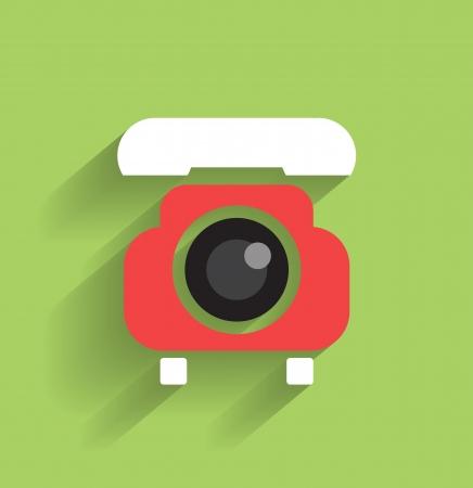 phone flat icon Stock Vector - 21220443