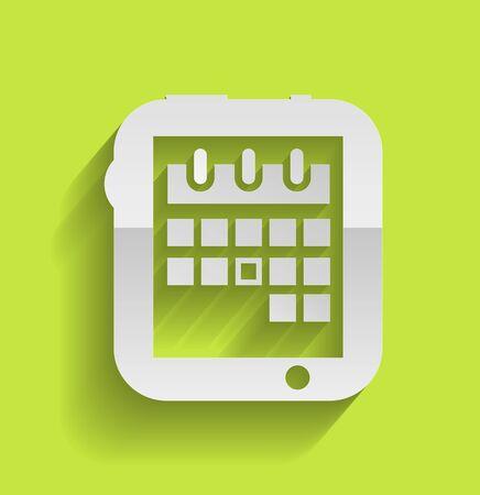time bound: Calendar icon modern flat design