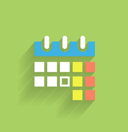 Calendar icon modern flat design Vector