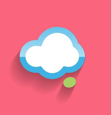 Speech cloud flat modern icon Stock Vector - 21220463