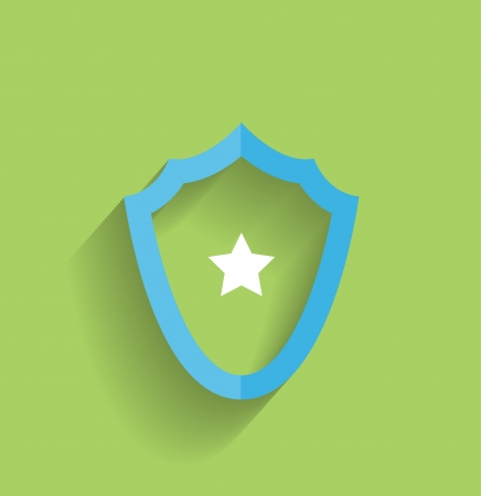 protection shield flat icon Vector