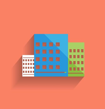 skyscraper icon modern flat design Stock Vector - 21220680