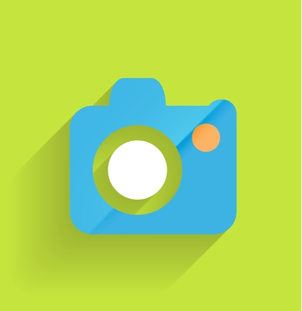Camera icon flat modern design Stock Vector - 21220689