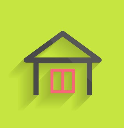 House icon modern flat design Vector
