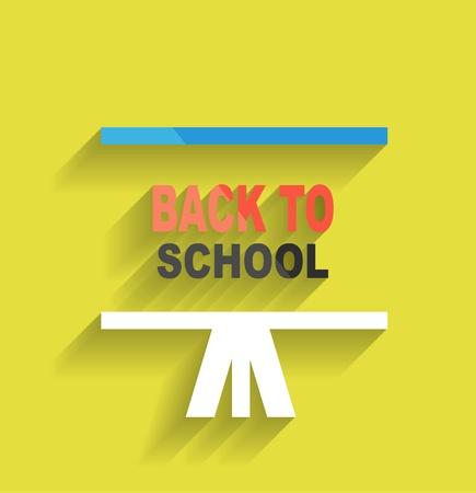 Back to school concept icon flat design Stock Vector - 21220698