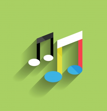music icon flat modern design Stock Vector - 21220701
