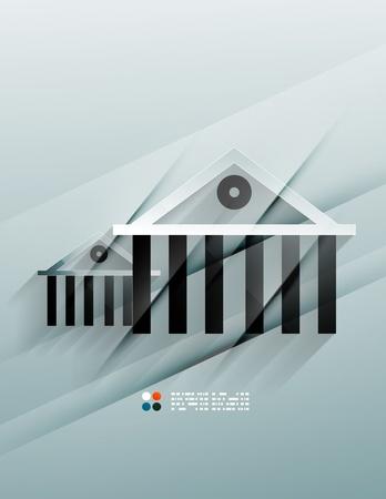 house icon 3d paper design Stock Vector - 21220990