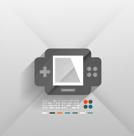 gaming console 3d paper design Vector
