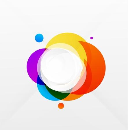 Modern colorful geometrical circles design