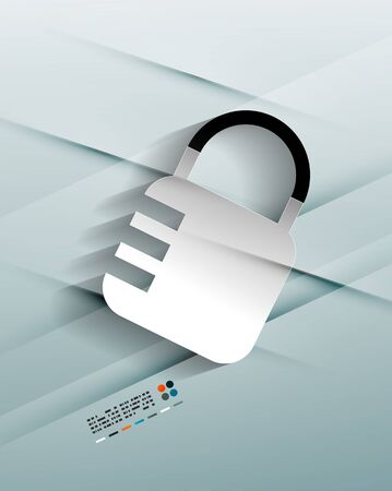 lock paper design Vector