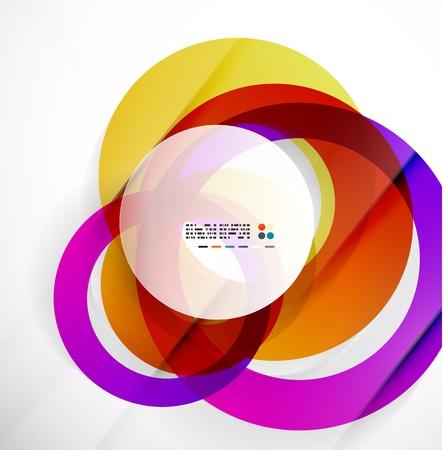 Modern colorful abstract circles Stock Vector - 21269563
