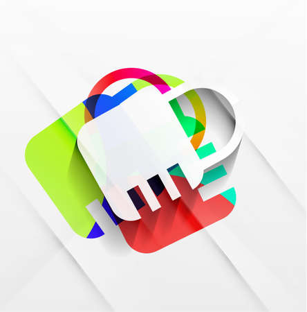 lock modern colorful design Stock Vector - 21269564