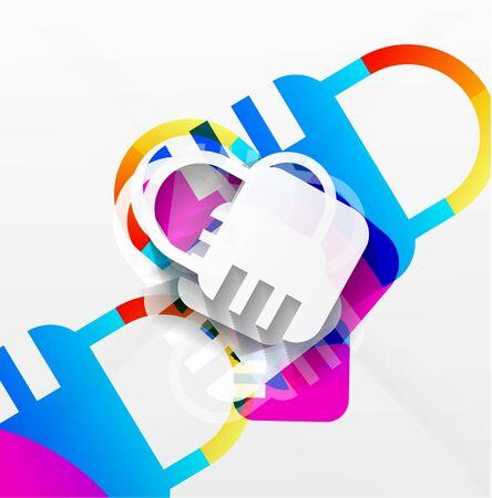 lock modern colorful design Stock Vector - 21269569