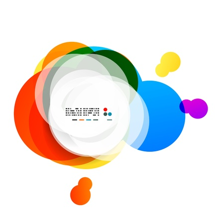 Abstract rainbow circles modern background Stock Vector - 21269590