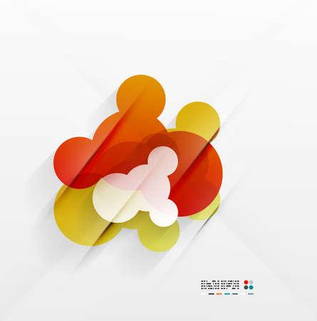 Abstract shiny orange bubbles Stock Vector - 21269593