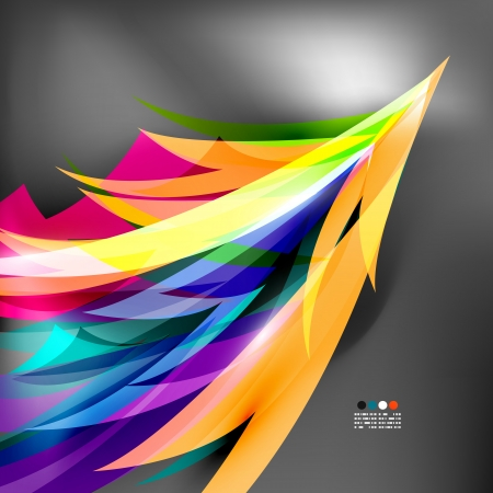 parrot tail: Colorful stylized parrot tail modern background Illustration