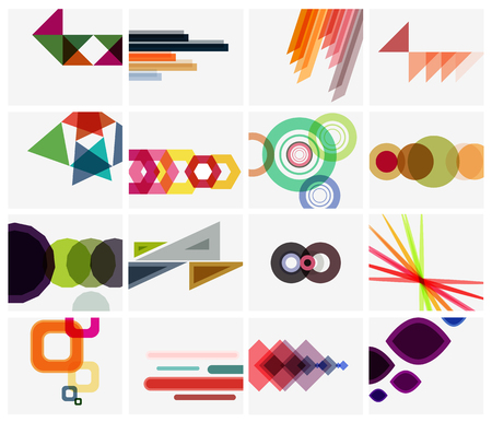 abstract design: Modern geometrical art background templates