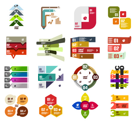 Set of modern infographic design templates and elements Illustration