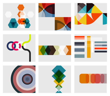 Modern abstract geometrical background templates Stock Vector - 22554626