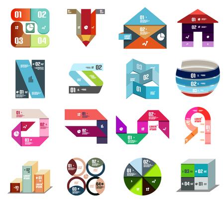 Modern design template. set of backgrounds and elements Illustration