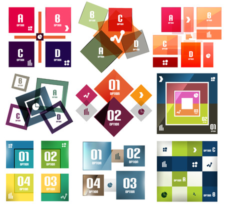 Vector square banners templates set Vector