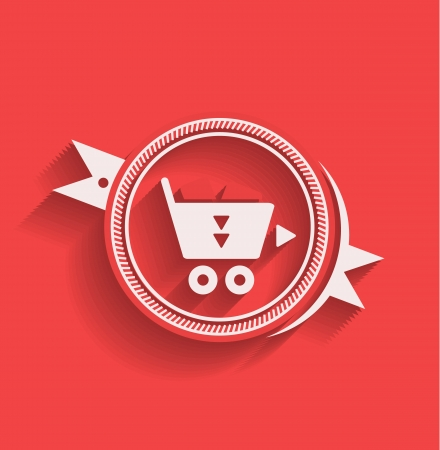 Shopping icon flat modern design Vector