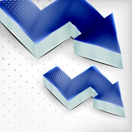 blue 3d arrow background Stock Vector - 22555014