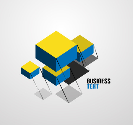 abstract business symbol cubes Vector