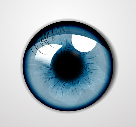 human touch: Illustration of eye