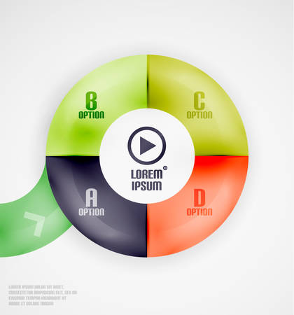 Modern circles infographic template Stock Vector - 22555246