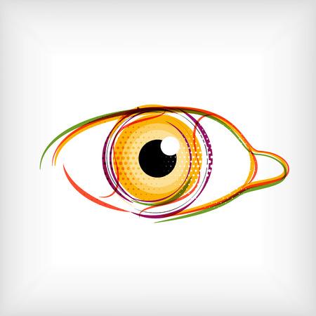 linee vettoriali: Vector linee concetto di vettore dell'occhio