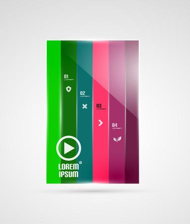 Modern geometrical stripes infographics template Vector