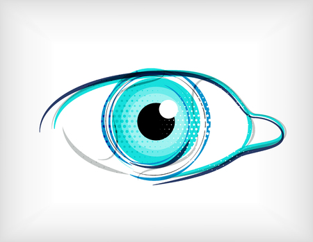 lines eye concept Stock Vector - 22555336