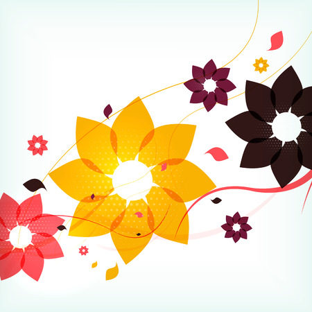 Abstract autumn flower background Stock Vector - 22555473