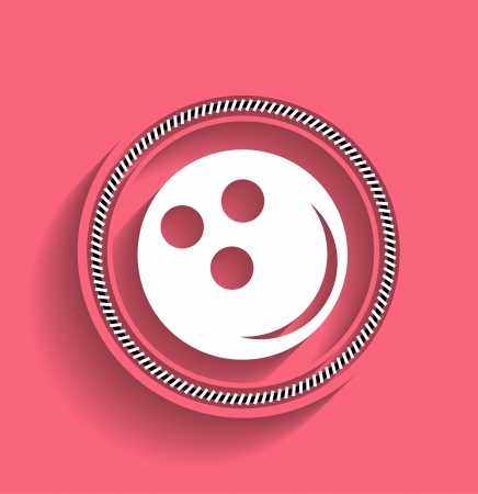 Bowling ball icon modern flat icon Stock Vector - 22555520