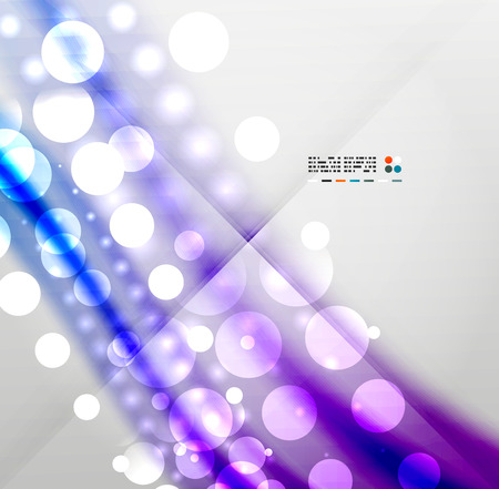 Blurred waves and lights modern abstract background Vector