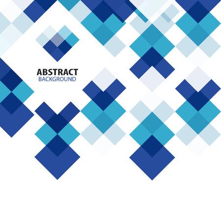 青い正方形の幾何学的な抽象的な背景  イラスト・ベクター素材