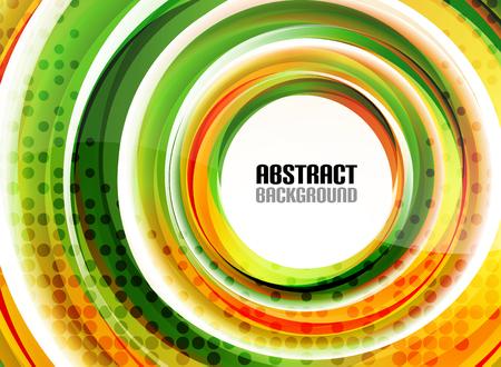 circle shape: Orange and green swirl shapes modern background