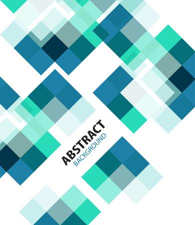 urban sprawl: Square blue geometrical abstract background