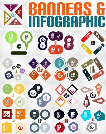 Big set of infographic banners and backgrounds Stock Vector - 22731097
