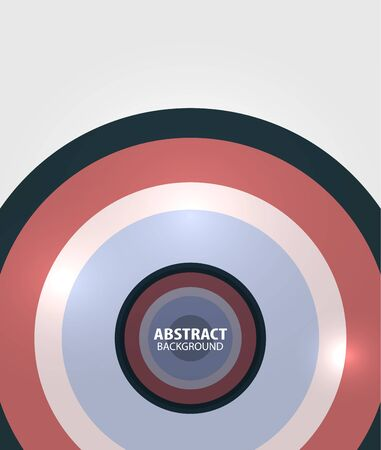 Modern circles minimal abstract background Vector
