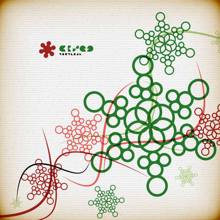 Vintage snowflakes minimal abstract background Stock Vector - 22799554