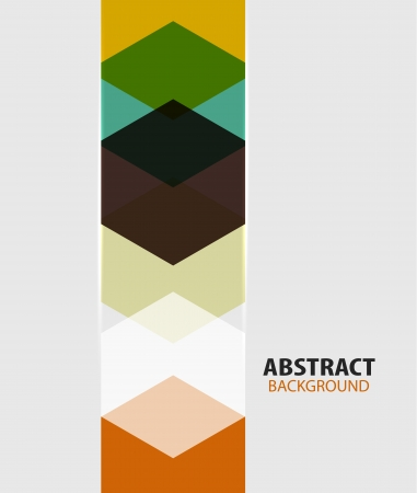Modern art hexagon abstract background Vector