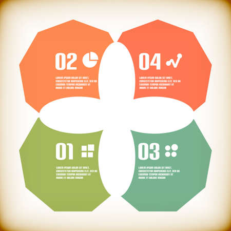 Modern geometrical infographic template Stock Vector - 22799726