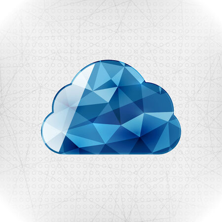 Geometric cloud paper concept Vector