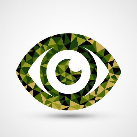 eye green: Tri�ngulo verde del dise�o patr�n de ojo